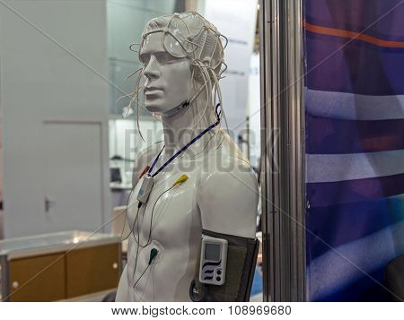 Mannequin And Medical Sensors. Technology And Medicine