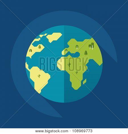 Globe earth icon. Flat style