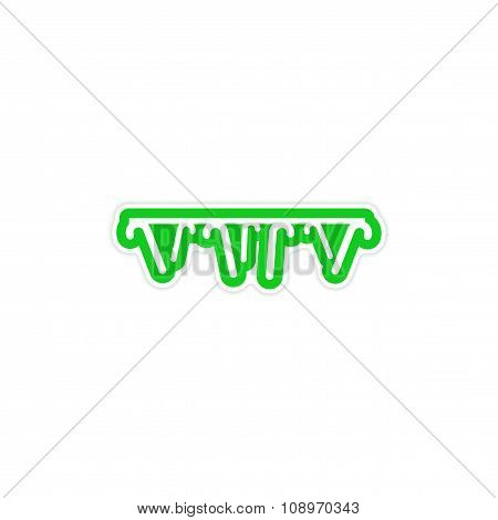 stylish paper sticker on white background garland lollipops