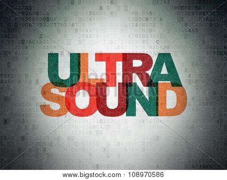Health concept: Ultrasound on Digital Paper background