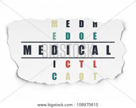 Medicine concept: Medical in Crossword Puzzle