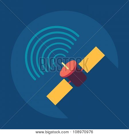 Satellite sign icon, vector illustration