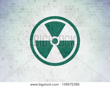Science concept: Radiation on Digital Paper background