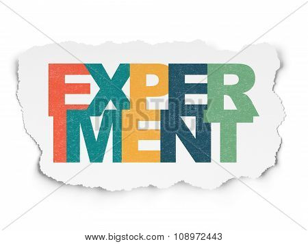 Science concept: Experiment on Torn Paper background