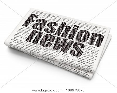 News concept: Fashion News on Newspaper background