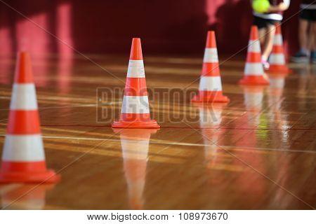 Active Sport Games. Sport Relay. Cones