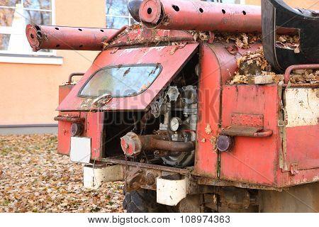 Abandoned Vintage Fire Engine