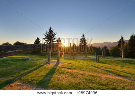 Burnaby Mountain Park Sunset