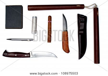 Knives, Lighter, Nunchuk And Other Thing