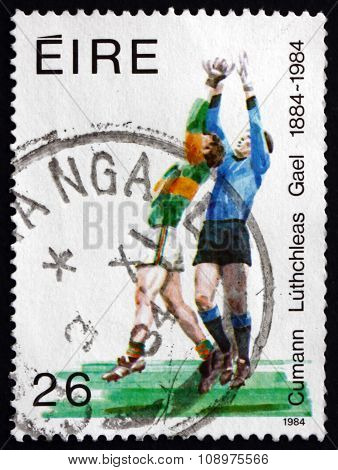 Postage Stamp Ireland 1984 Soccer