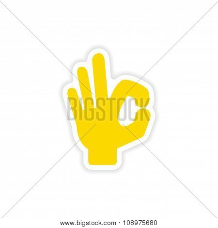 icon sticker realistic design on paper hand perfectly