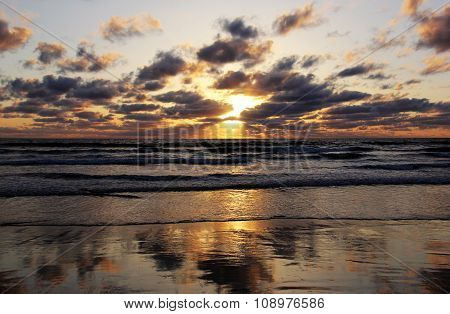 Pacific Sunset Reflection