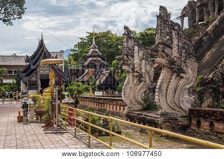 Chiang Mai, Thailand - Circa August 2015: Wat Chedi Luang Worawihan, Chiang Mai,  Thailand