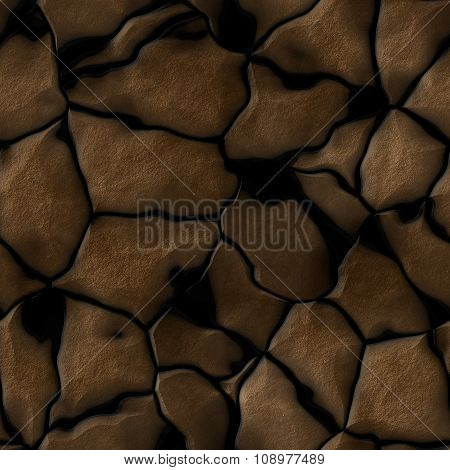 Brown brick wall seamless Illustration background - texture pattern for continuous replicate