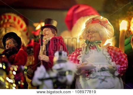 Mrs Santa Claus Christmas Holiday Scene