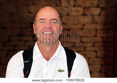 Mens Pro Golfer Thomas Levet November 2015 In South Africa