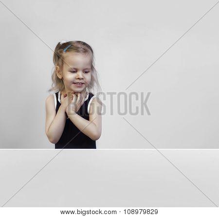 Beautiful Little Girl Three Years Old