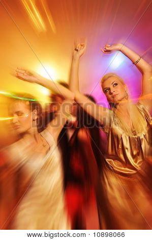 People dancing in the night club