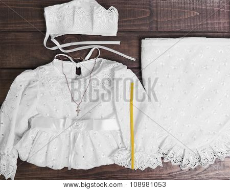 Christening Baby White