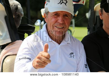 Tournament Presenter And Grand Master Gary Player Giving Thumbs Up At 80 Years On November 2015 In S