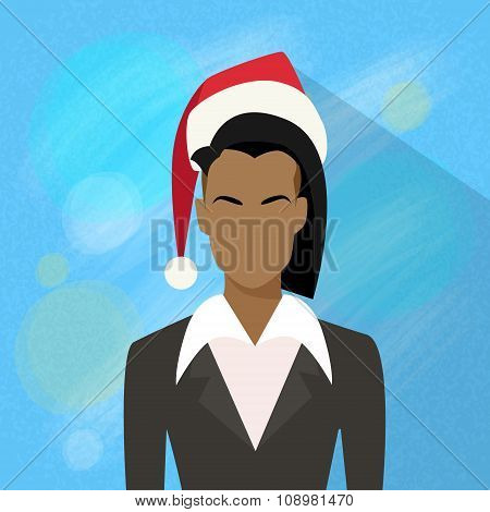 Businesswoman African American Profile New Year Christmas