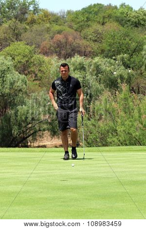 Jordan Player, Son Of Wayne And Grandson Of Gary Player On The Green On November 2015 In South Afric