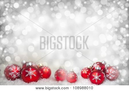 Background with defocused lights and stars for christmas and party