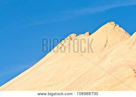 Hills Of Sand And Stone Gives An Impression Of Mountains