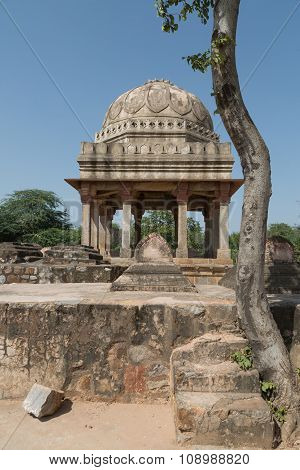 Archaeological Building At Mehrauli Park, New Delhi