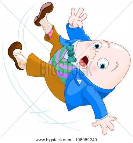 Humpty Dumpty falls down