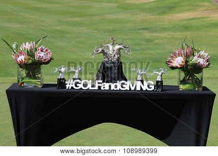 Winners Trophy Table Gary Player Charity Invitational 2015