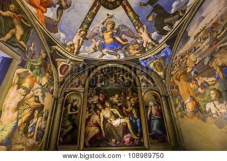 Interiors Of Palazzo Vecchio, Florence, Italy