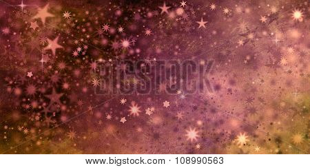 Golden Xmas Stars In Different Shapes