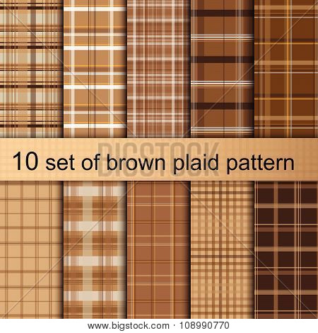 Brown Plaid Pattern.ai