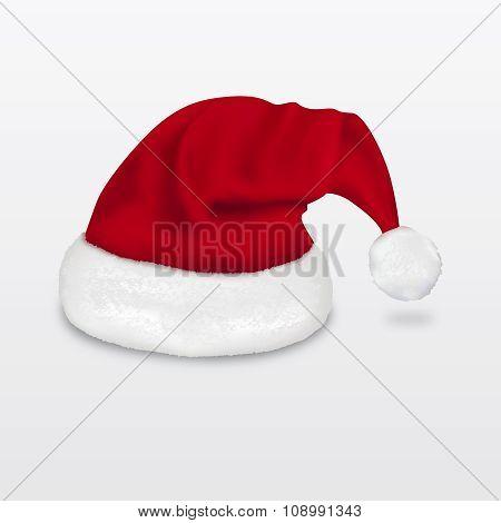 Realistic santa claus hat