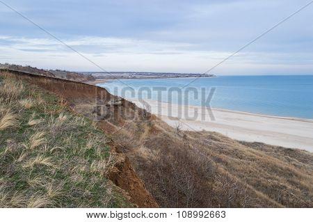 Russia seaside hills beach landscape