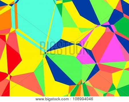 Multicolored Abstract Polygonal Background