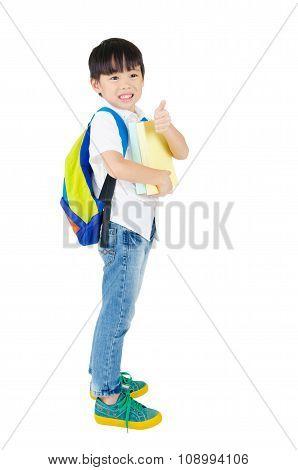 Asian preschool boy
