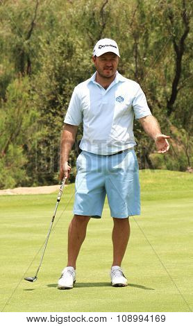 Mens Pro Golfer Richard Sterne Not Satisfied With His Put On November 2015 In South Africa