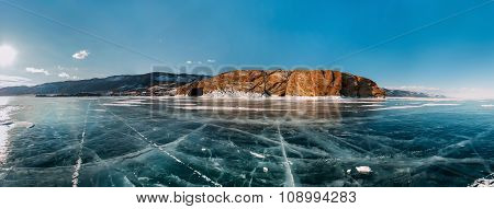 Panorama Frozen Winter Baikal