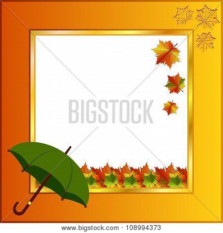 Bright photo frame Autumn