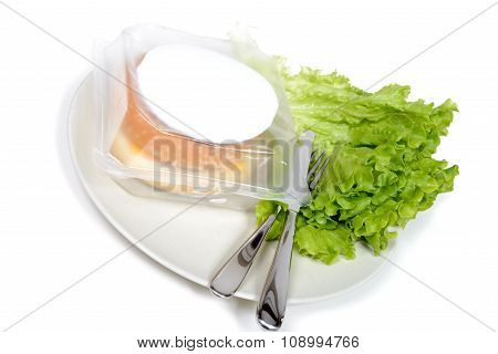 Burger For Microwave With Salad