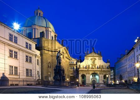 Krizovnicke Square, St. Salvatore Church, Old Town, Prague (unesco), Czech Republic