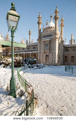 Royal Pavilion Brighton Snow Winter