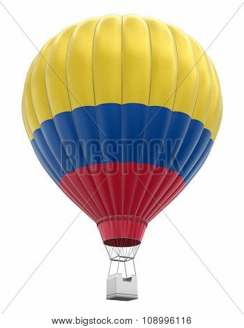 Hot Air Balloon with Colombian Flag (clipping path included)