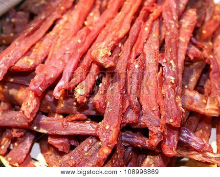 Flesh Very Spicy Called Coppiette Typical Culinary Specialties Of Lazio In Italy