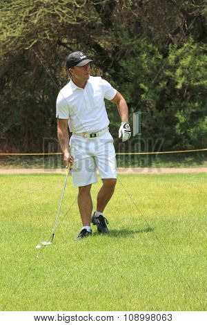Wayne Player, Son Of Gary Player Contending With Some Rougher Grass On November 2015 In South Africa