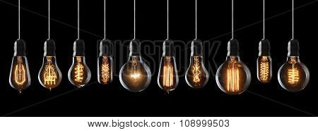 Glowing Light Bulbs