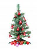 Постер, плакат: Рождественская елка и рождественские подарки