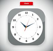Постер, плакат: Time and Clock App Icon